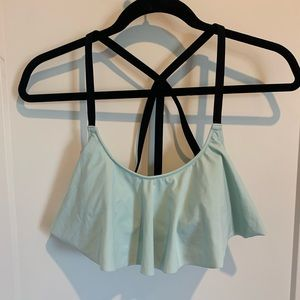 PINK Strappy Back Flounce Bikini Top